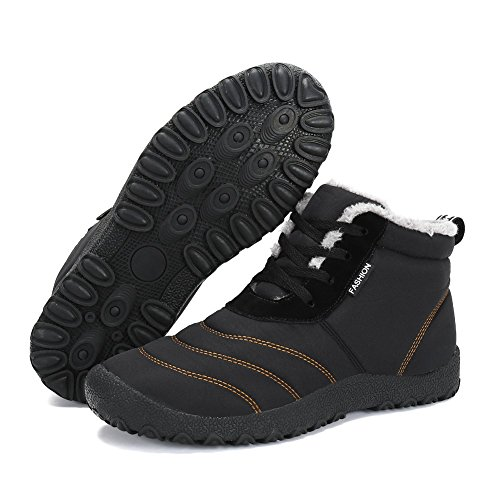 - Men Women Snow Boots Anti-Slip Ankle Boots Waterproof Winter Shoes with Fully Fur Lined