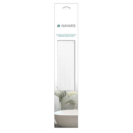 Shower Set of 8 Tub Anti-Slip Adhesive Safety Sticker Grip Tape Decal Appliques for Bath Transparent Navaris Non Slip Bathtub Strips Stairs