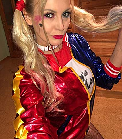 Greetuny Suicide Squad Harley Quinn Disfraz Mujer Completo ...