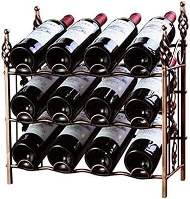 HJXSXHZ366 Estantería de Vino Estante del Vino 12 Vino Botellas De pie Estante de exhibición Estante de Almacenamiento Wobble Estante de Vino pequeño