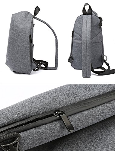 Men's Backpack Fashion Youth Men Bag Messenger Shoulder Chest Sports Tide Gray Man gw0n5Oqnx