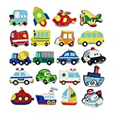 Tectri Vehicle Magnets Set, Anti-Scratch 4.3 cm Funny Fridge Strong for Kids Home, White Board Classroom Kitchen and Office 20 Pack