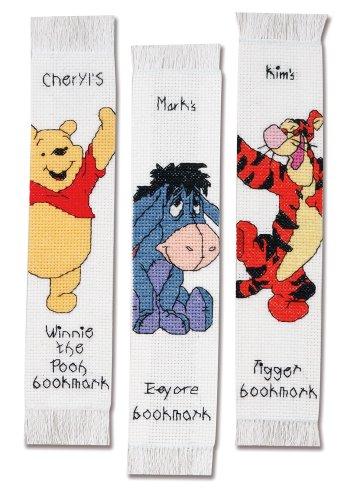 Janlynn Cross Stitch Kit, Pooh Bookmark Set, Set of 3