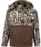 Drake Duck Waterfowl Hunting Jacket Waterproof Quarter Zip Pullover for Men - Realtree Max-5