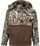 Drake Duck Waterfowl Hunting Jacket Waterproof Quarter Zip Pullover for Men - Realtree Max-5 (Medium)