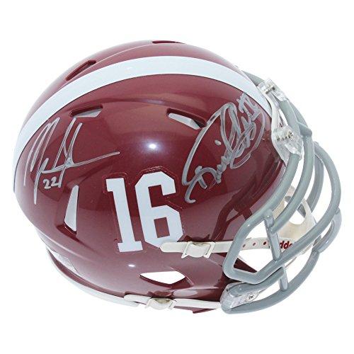 Derrick Henry & Mark Ingram Dual Signed Alabama Crimson Tide Speed Mini Helmet - PSA/DNA (Psa Dna Autograph Authentication)