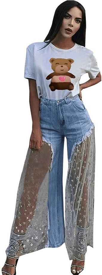 KaiCran Baby Denim Pants,Fashion Little Girls Trousers Flared Pants Tassel Denim Clothes Jeans Pants