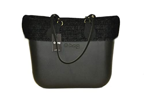 Borsa O bag nera manici lunghi bordo zippato nero  Amazon.it  Scarpe ... 596bd5f4a6d