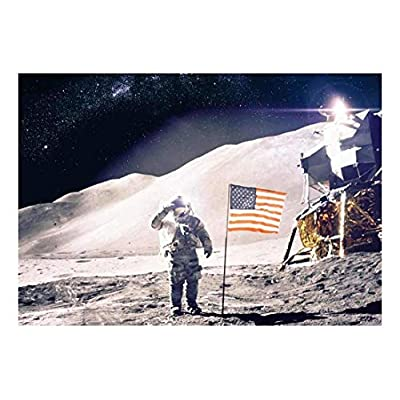Man on The Moon with The American Flag...