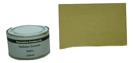 1 x 150 ml dorado de raso radiador pintura resistente al calor