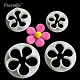Saasiiyo Lovely 4pcs Plum Flower Cake Cutter Fondant mold Cake Jelly Cookie Sugar Decoration Wedding Cake Decorating DIY Tools 01066