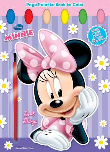 Minnie Mouse: Sweet Spring Things: Page Palette Book to Color (Colour Book Pages)