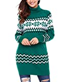 Product review for Dearlovers Womens Long Sleeve Snowflake Knit Turtleneck Jumper Long Ugly Christmas Sweater Tops