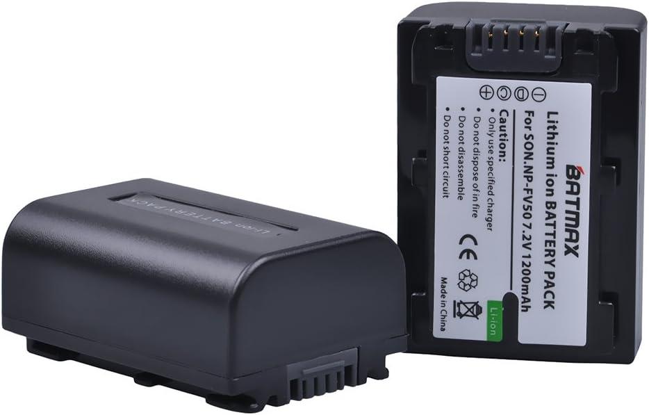2x Batería Cargador Usb Doble Para Sony NP-FV30 NP-FV40 NP-FV50 NP-FV70