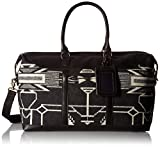 Pendleton Women's Tsi Mayoh Wool Jacquard Getaway Bag, Tsi Mayoh, Black, One Size