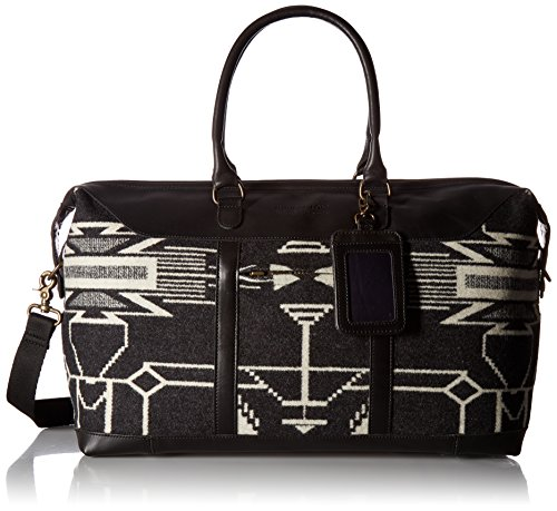Pendleton Women's Tsi Mayoh Wool Jacquard Getaway Bag, Tsi Mayoh, Black, One Size by Pendleton