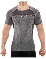 SMILODOX Slim Fit T-Shirt Herren | Seamless - Kurzarm Funktionsshirt für Sport Fitness Gym & Training | Trainingsshirt - Laufshirt - Sportshirt mit Aufdruck
