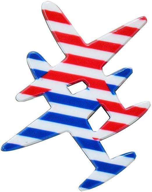 BaiXing Acrílico Aviones Broche de Dibujos Animados Insignia Insignia de acrílico Transparente Pin 3 Pack: Amazon.es: Hogar