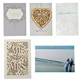 Hallmark Wedding Greeting Cards Assortment (5 Cards, 5 Envelopes)