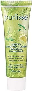 product image for purlisse Matcha Green Tea + Lemon Detoxifying Charcoal Mask, 1.8 oz