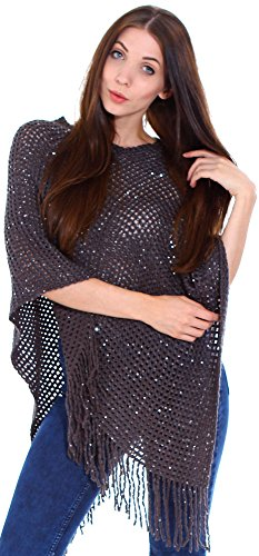 Simplicity Womens Oversize Knitted Poncho