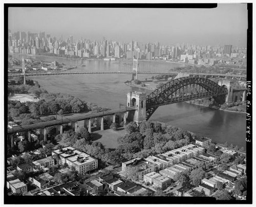 HistoricalFindings Photo York Connecting Railroad,Hell Gate Bridge,East River, -