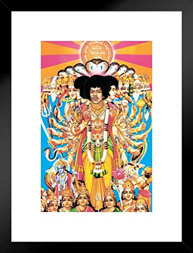 Pyramid America Jimi Hendrix Axis Bold as Love Music Matted Framed Poster 20x26 inch