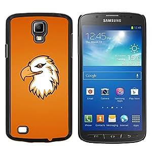 "Be-Star Único Patrón Plástico Duro Fundas Cover Cubre Hard Case Cover Para Samsung i9295 Galaxy S4 Active / i537 (NOT S4) ( Arte de Eagle Cabeza del pájaro de vuelo Portraid Magnífico"" )"