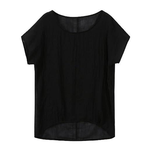 0e492a6e887 Amazon.com  Clearance! Women Plus Size Short Sleeve Linen Shirt ...
