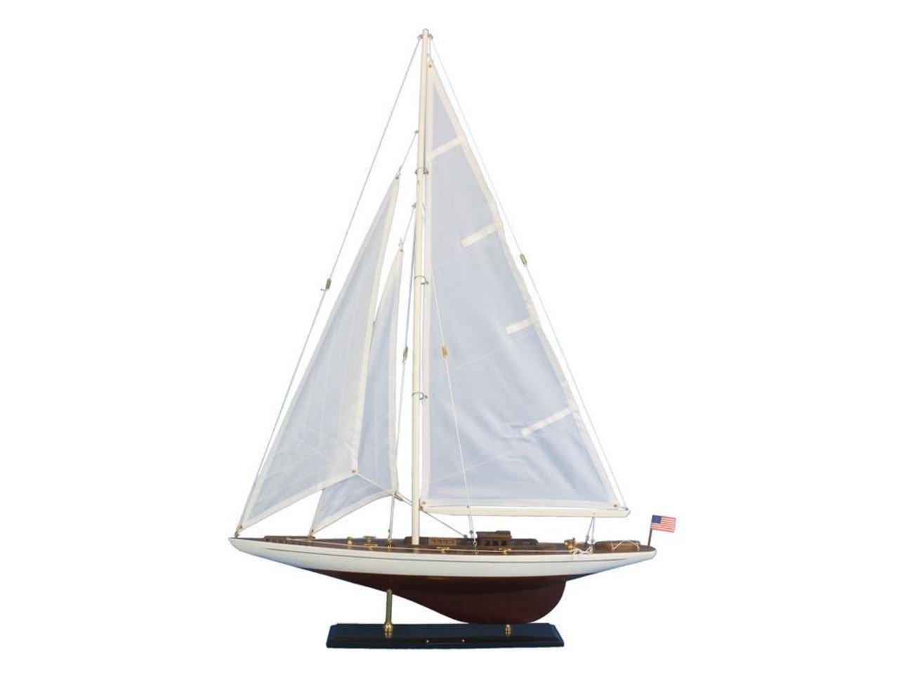 Hampton Nautical Wooden Ranger Model Sailing Yacht, 35''
