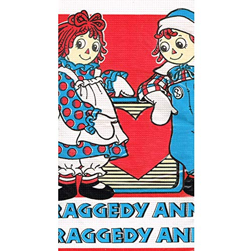 Raggedy Ann and Andy Vintage 1988 Red Paper Table Cover (1ct)]()