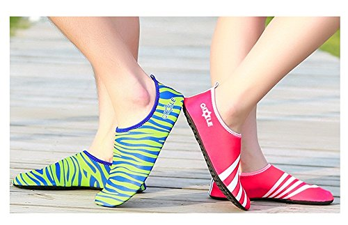 Pool Fluorescent Aqua Hanxue Exercise Water Beach Shoes Socks green Yoga on Slip qvv6wIf