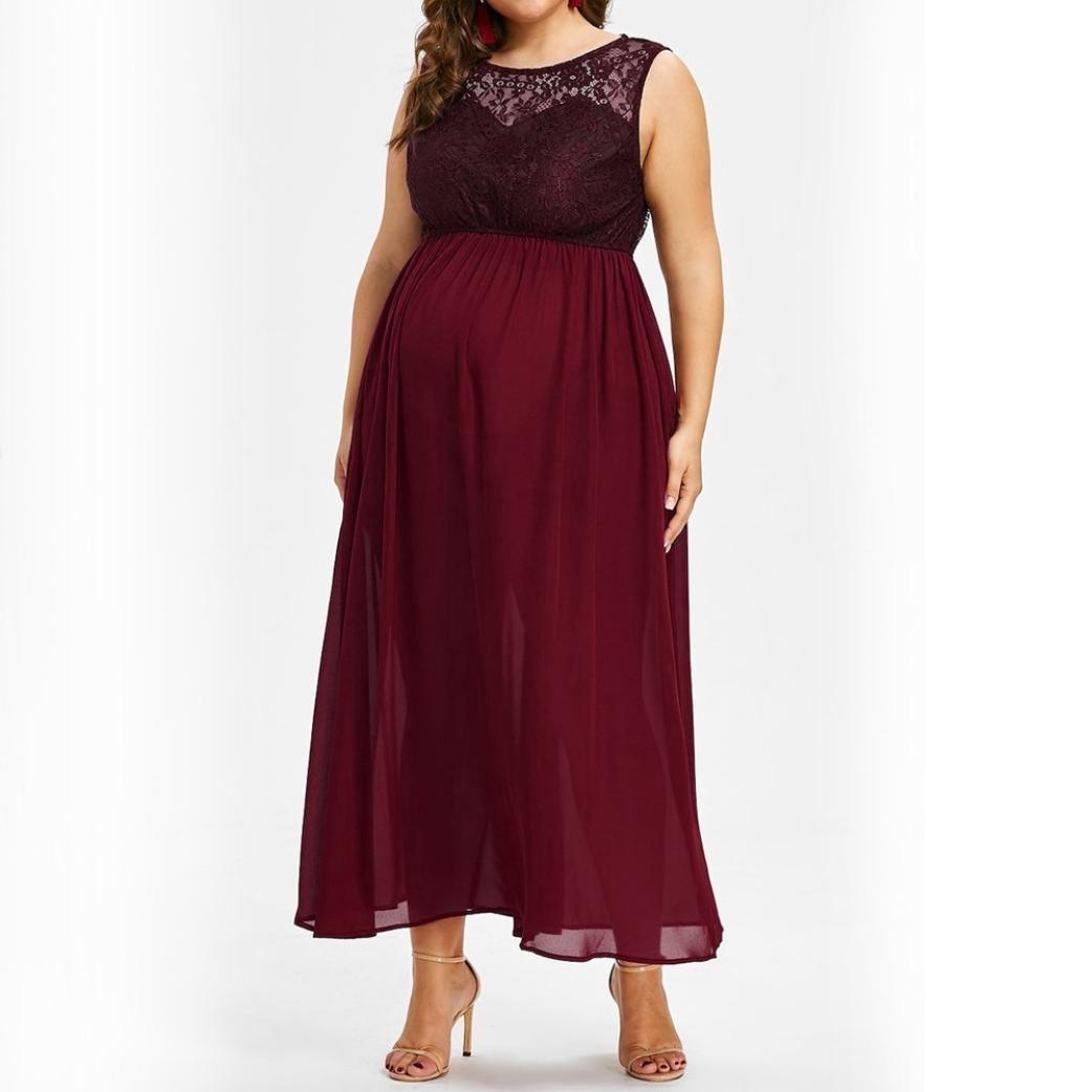 K-youth Vestidos Premama Verano Vestido para Mujeres Embarazadas Tallas Grandes Vestidos de Fiesta Encaje Chiffón Vestido Fotos Embarazada Vestidos ...