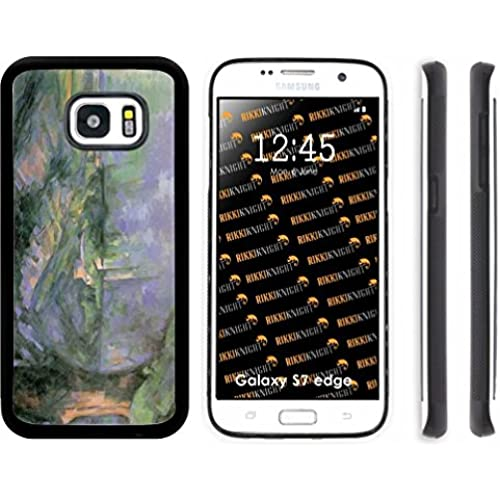 Rikki Knight Paul Cezzane Art Le Lac d Annecy 1896 Design Samsung Galaxy S7 Edge Case Cover (Black Rubber with front Bumper Protection) for Samsung Sales