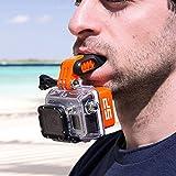 ERTIANANG 1Pcs Teeth Brace Holder Surfing Diving Underwater Float Silicone Mouth for GoPro Retainer Case Holder Medical Denture Brace Case