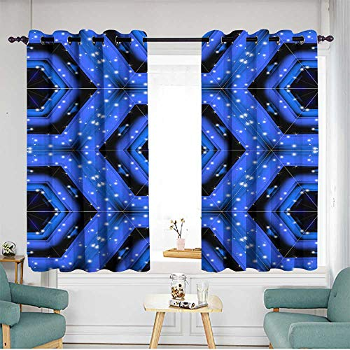 (Living Room/Bedroom Window Curtains Insulated with Grommet Curtains for Bedroom W 63