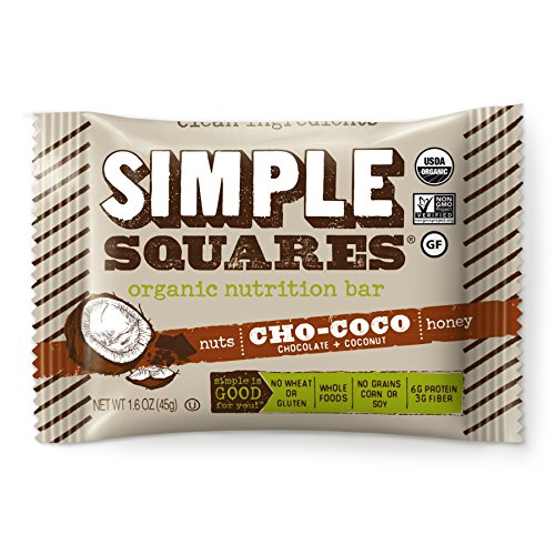 Simple Squares Paleo Protein Bars | Organic, Non GMO, No Dairy, Low Carb, Gluten Free Paleo Snacks Naturally Made For Paleo, and Low Sugar diets. (Cho-Coco Nuts & Honey - 12 Pack)