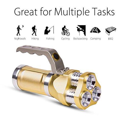 VIASA Rechargeable LED Searchlight Tactical Flashlight 3T6 Spotlight 9000 Lumens