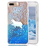 iPhone 8 Plus Case,iPhone 7 Plus Case,CRAZY PANDA Creative 3D Moving Glitter Case [No Liquid] with Soft Rubber Border and Bling Sparkle Dynamic Stars for iPhone 7 Plus / iPhone 8 plus - Polar Bear