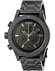 Nixon Womens A404957 38-20 Chrono Analog Display Japanese Quartz Black Watch