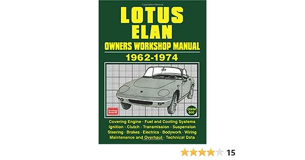 Lotus Elan Owners Workshop Manual 1962-74 Series 1-4 and Elan Plus 2-2S *NEW