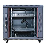 "12U Server Rack Cabinet Enclosure Fully Equipped! ACCESSORIES FREE! Fits Most Server Equipment 35"" Deep Fully Lockable Network IT 19"" Enclosure Box"