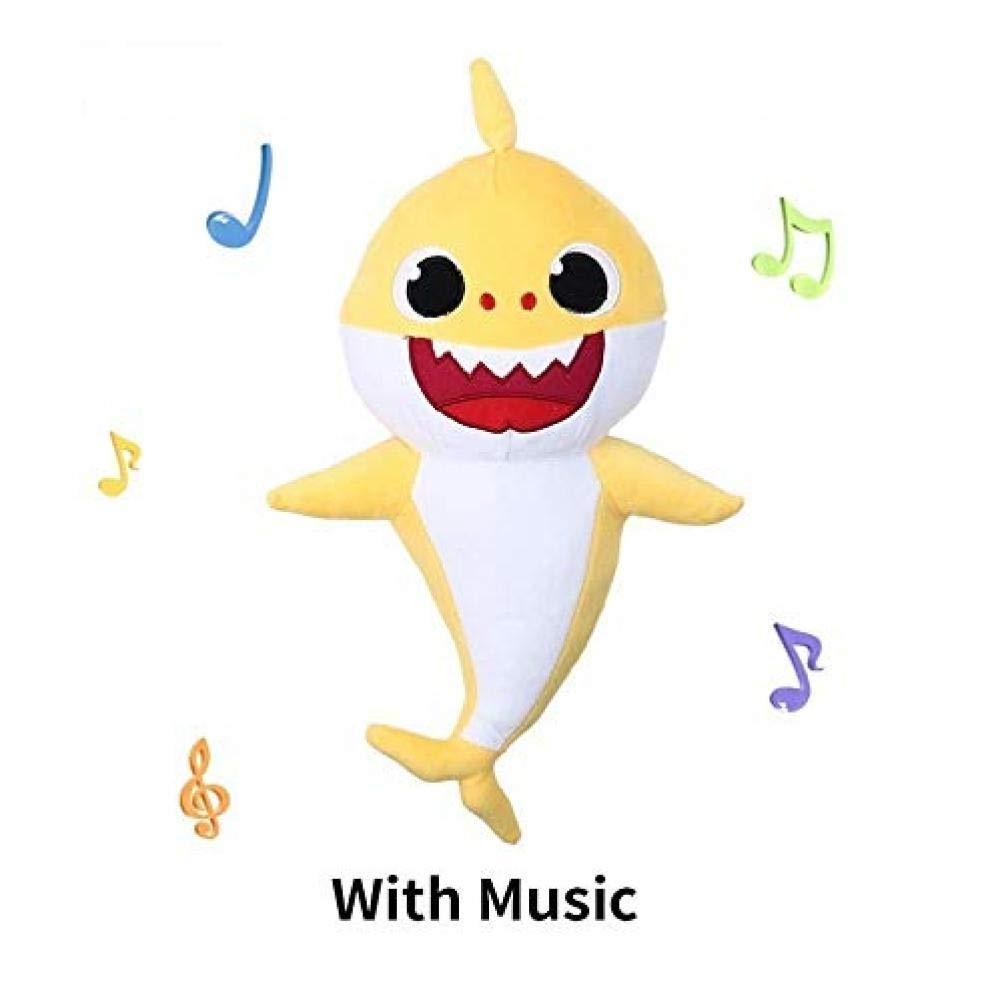 Giallo Baby squalo della Peluche di Canto Bambola di pezza degli Animali per Il Bambino Che abbraccia Cuscino Pet Cuscino Regalo Kids Zonster Peluche Shark 12,6 Pollici