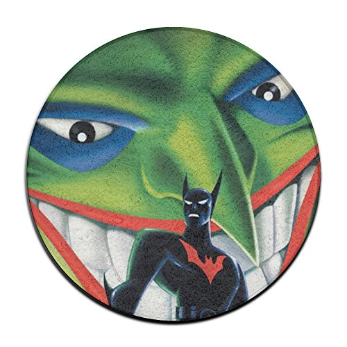 YellowNN The Joker VS Batman Round Doormats / Entrance Rug Floor Mats Doormats (Joker Customes)