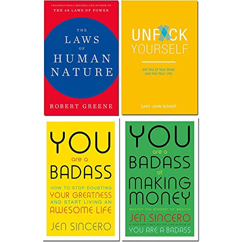 Book cover from Laws of human nature [hardcover], unfck yourself, you are a badass, you are a badass at making money 4 books collection set by Robert Greene