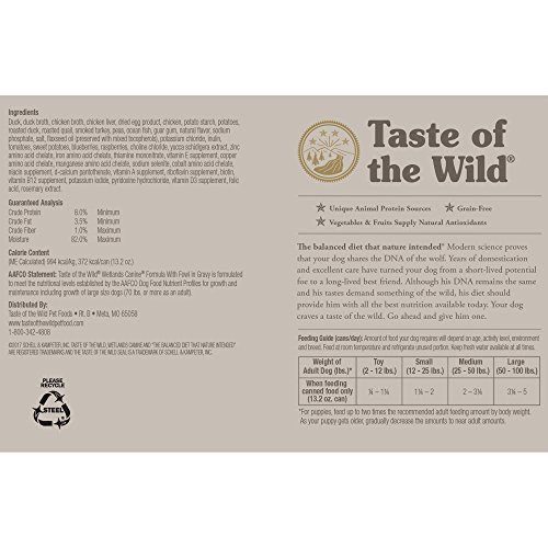 Large Product Image of Taste Of The Wild Grain Free Real Meat Recipe Premium Wet Canned Stew Dog Food, Pack Of 12