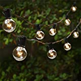 Bulbs String Lights, MUEQU 25Ft G40 25 Clear Globe Bulbs Vintage Backyard Patio Lights, Indoor Outdoor Decor String Lights for Wedding Garden Pergola Decks Cafe Market Hanging Lights