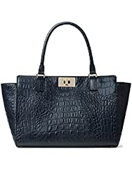 Kate Spade Kelsey Orchard Valley Navy Croc Handbag