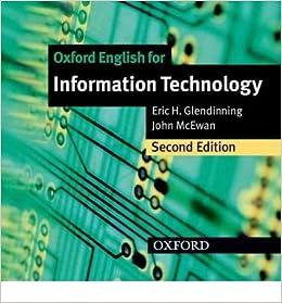 Audio oxford english for information technology personenbeschreibung englisch zeitform