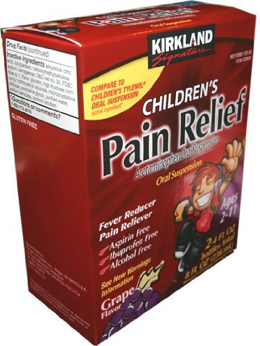 Cos-sl Children's Pain Relief Oral Suspension Dye-free Non-staining Grape Flavor 2 Pack of 4 Oz Bottles (8 Oz Total)
